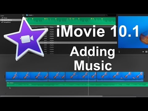 iMovie 10.1 (2016) -  How to Add Music (Beginner)