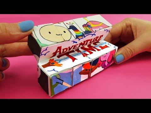 Adventure Time Magic Cube Transformer DIY | Paper Crafts Tutorial For Kids