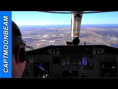 Landing at DFW Airport, Lots of ATC Radio Traffic: Cessna Citation