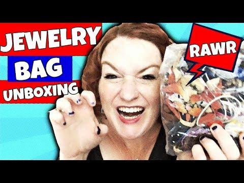 RAWR! AWESOME  Jewelry Jar Unboxing 2018 AKA Jewelry Bag Unbagging