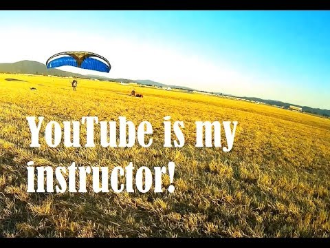 Zach tries to learn to fly from Youtube after buying his paramotor online