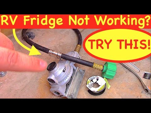 RV Fridge Troubleshooting (How To Change A Propane Regulator)