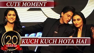 Kajol Gets JEALOUS Of Rani Getting LOVE From Shahrukh Khan At 20 YEAR CELEBRATION Kuch Kuch Hota Hai