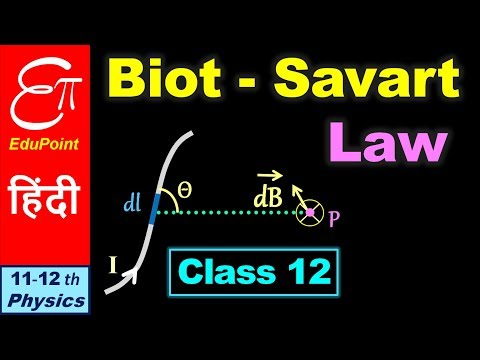 Biot - Savart Law || Class 12 - Moving Charge and Magnetism - 8 || in HINDI