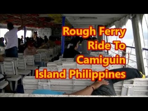 Rough Ferry Crossing To Camiguin Island Philippines