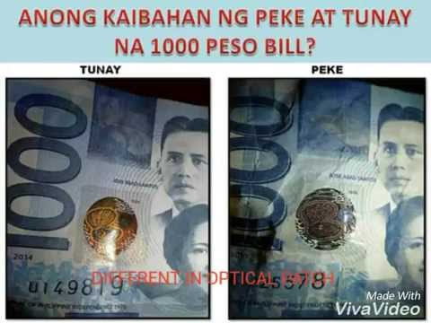 Tips to check if your 1000 peso bill is real or fake?