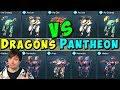 DRAGONS VS PANTHEON Hangar Who Wins War Robots Skirmish Gameplay WR