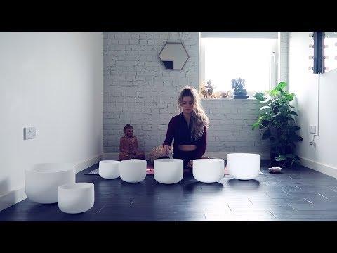 7 Chakra singing bowl sound healing mediation