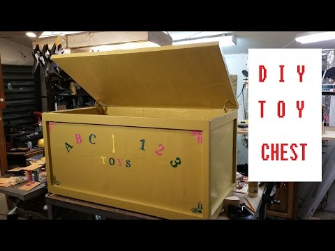 Homemade Toy Chest, DIY Toy Box