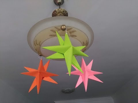 DIY Paper crafts - How to Make Paper Stars - Christmas Decoration + Tutorial !