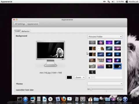 Install Mac OS X Theme on Ubuntu 13.04 Raring Ringtail