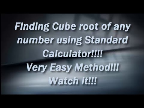 Cube Root of any number using Standard Calculator!!  Easy Trick!!!100% Working!!!