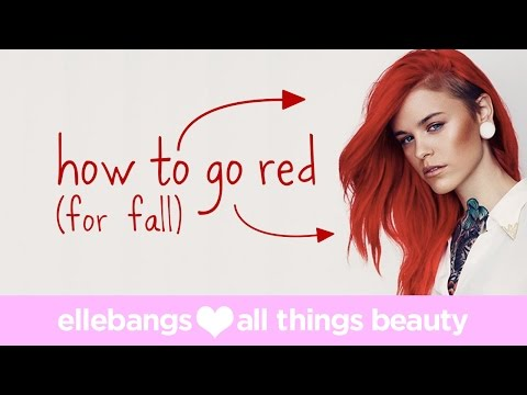 How to Color your hair from Blonde to Red