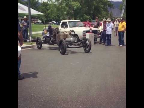 Driving the Steam Car at the Minden Car Show
