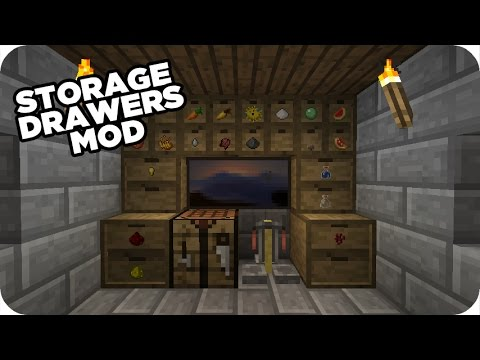 Storage Drawers Minecraft Mod Crafting Recipes 1 1710