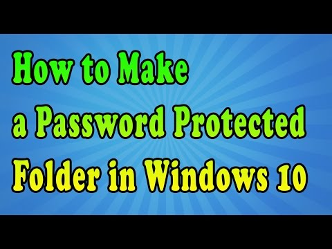 How to make a password protected folder in window 10