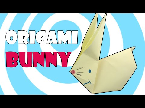 Origami Bunny (Rabbit) 🐰 Easy Tutorial for Kids 🐰
