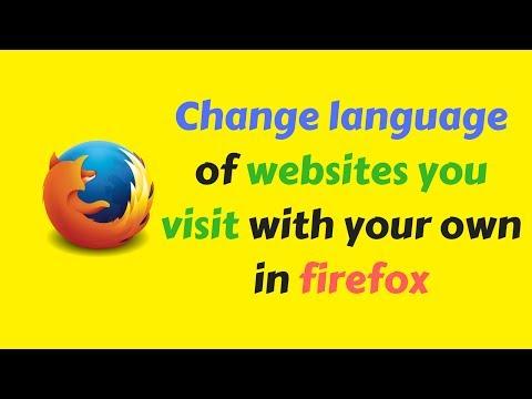 Change Mozilla Firefox language settings web 2017 [ Hindi Video ]