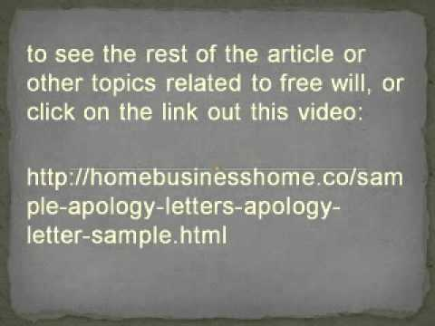 Sample Apology Letters  Apology Letter Sample