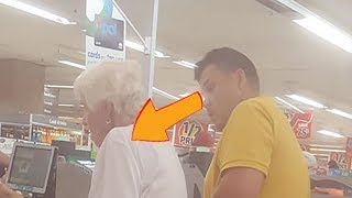 Photographed In Secret See What This Dad Did To Poor Lady In Line