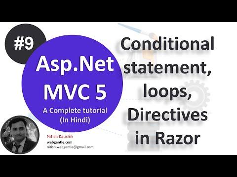 Part - 9   Loop in Razor view engine in MVC 5   mvc tutorial for beginners in .net c#