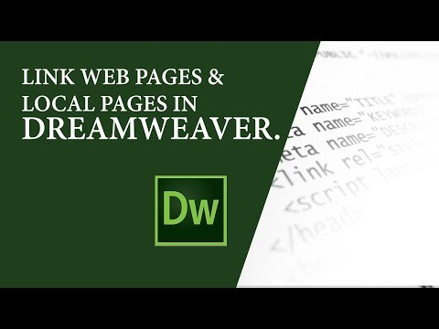Linking Web Pages & Local Pages in Adobe Dreamweaver