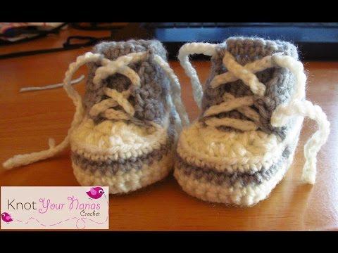 Newborn Crochet Converse Booties