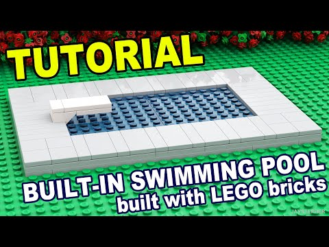 LEGO Swimming Pool How To TUTORIAL