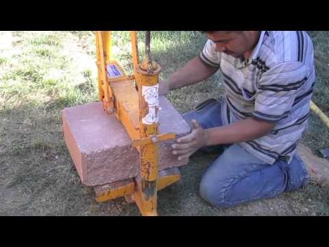 Cutting cement blocks