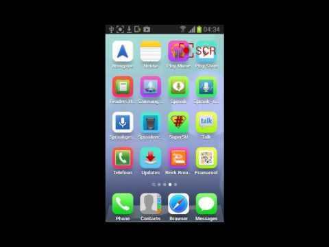ANDROID PHONE 4.1.2 Rooted - IOS 7 SKIN - Beautiful ANDROID  2013