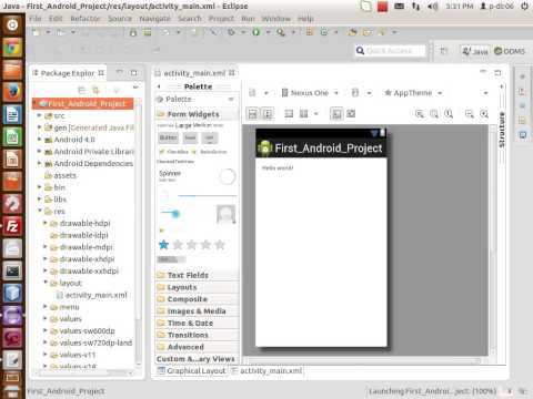 How to create Android Project in Eclipse Juno