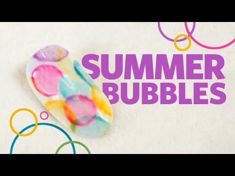 Summer Nail Art: Blended Bubbles