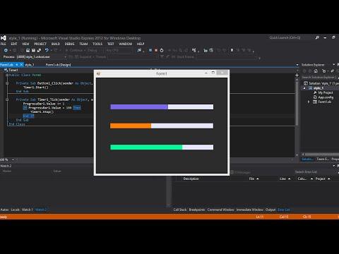 VIsual studio 2015 Change progress bar color in vb.net