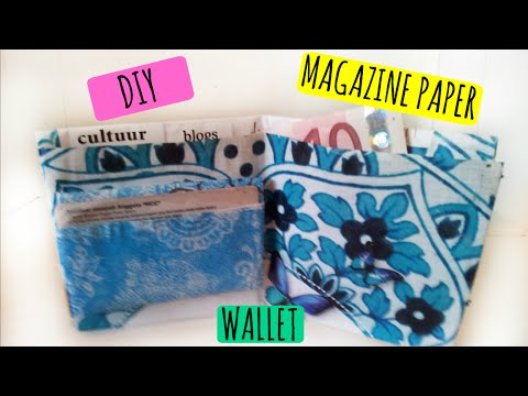 DIY PAPER WALLET!  Fast & Easy
