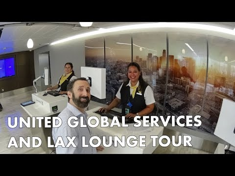 UNITED GLOBAL SERVICES @ LAX plus UNITED CLUB lounge tour