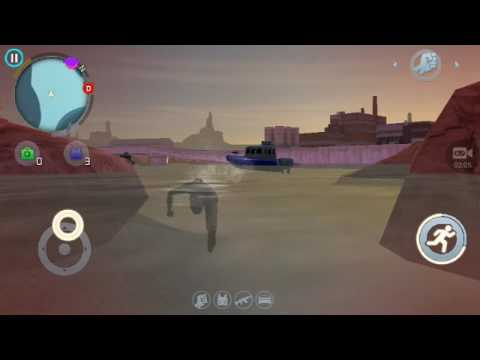 gangstar vegas (glitch) flying motor in water