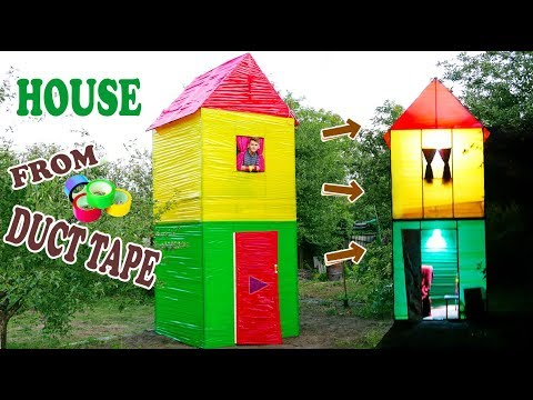 2-STOREY HOUSE FROM DUCT TAPE - DIY