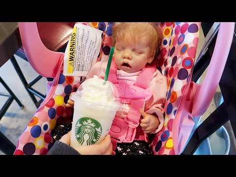 Reborn Baby Goes to Starbucks and Reborns Night Time Routine