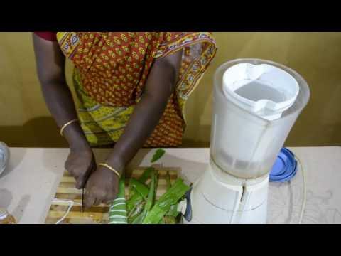 Aloe vera juice in tamil   body heat reduce   skin Shining   சோற்றுக்கற்றாழை சாறு