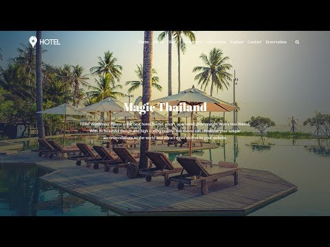 Hotel WordPress Theme   Background Video & Reservation Section