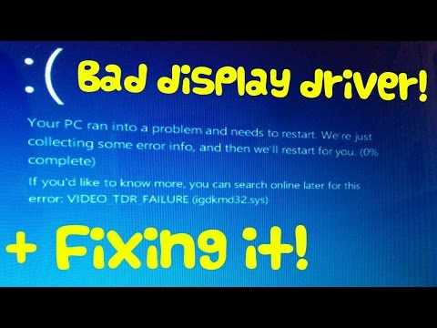 Don't install incompatible display drivers!
