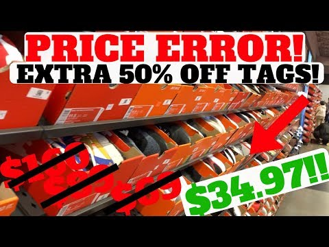PRICE ERROR! ONLY $34!!! Nike Outlet Sneaker Hunting Pickup!