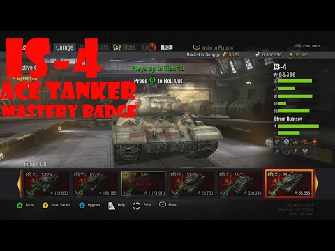 World Of Tanks Xbox 360 IS-4 (#2) Mastery Badge