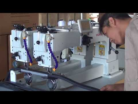 Thick rubber sheets and rubber strips sewing machine