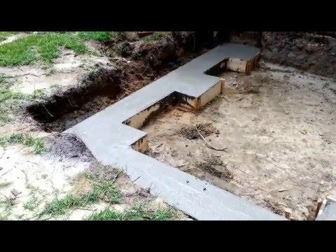 Room Addition footing Foundation How to pour concrete SAMSUNG GALAXY S5