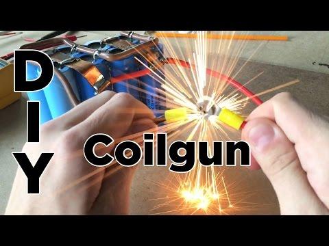 Ben Builds: DIY Easy Coilgun | Electronic Projectile Launcher