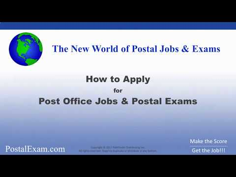 How to Easily Apply for Post Office Jobs and Postal Exams - The Complete Postal Guide!