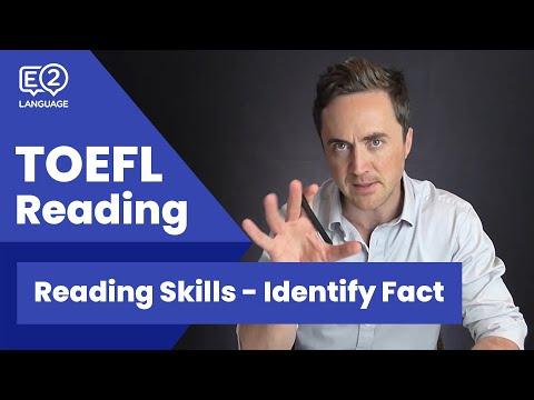 TOEFL Reading Skill 5: Identify Fact with Jay!
