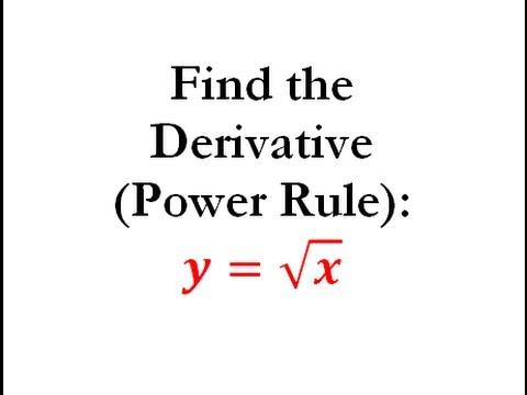 Power Rule of Derivatives (Calculus) - Worked Example #1