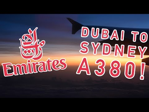 ✈ Emirates A380 Long Haul Economy Review | DUBAI TO SYDNEY! + DXB DUTY FREE & MARHABA LOUNGE (HD)